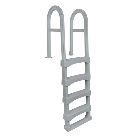 Snap-Lock Deck Ladder for Above-Ground Pools - Gray