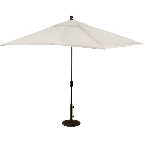 Caspian 8-ft x 10-ft Rectangular Market Umbrella with Olefin Canopy