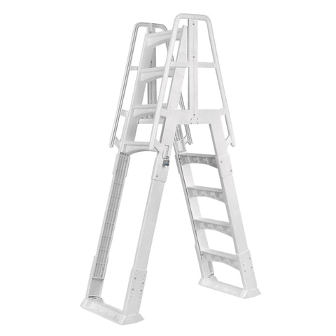 Premium A-Frame Above Ground Pool Ladder - White
