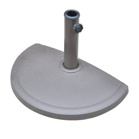 20-lb Resin Half Round Umbrella Base
