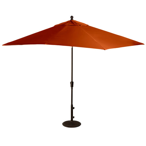 Caspian 8-ft x 10-ft Rectangular Market Umbrella with Sunbrella Canopy