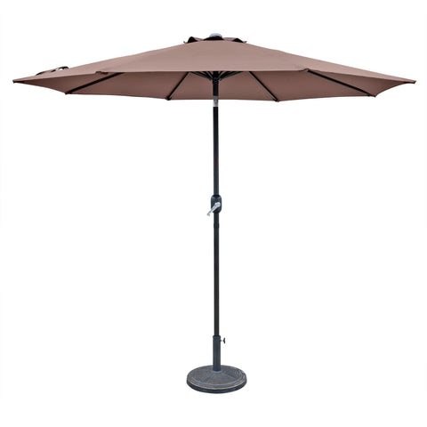 Trinidad 9-ft Octagonal Market Umbrella in Coffee Polyester