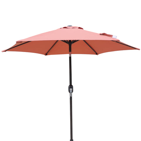 Bistro 7.5-ft Hexagonal Market Umbrella with Olefin Canopy