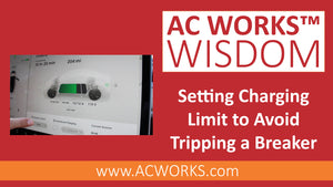 AC WORKS™ Wisdom: How to Set the Charging Limit on a Tesla to Avoid Tripping your Breaker