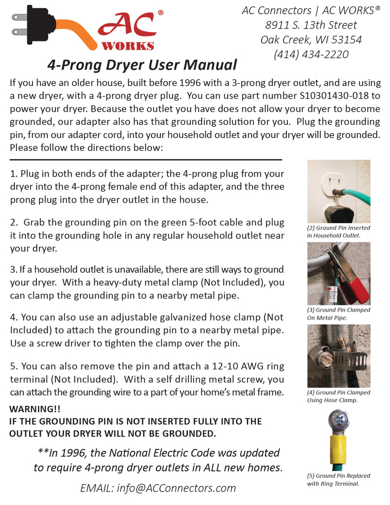 Wiring Diagram For Dryer Outlet 4 Prong Manual Guide