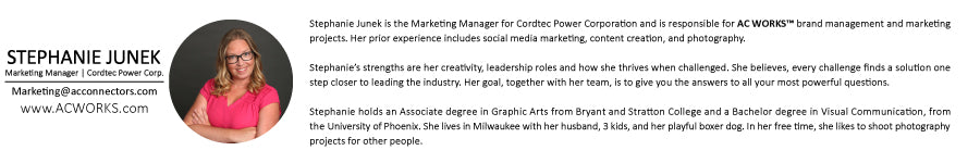 Stephanie Junek Marketing Manager for Cordtec Power Corporation