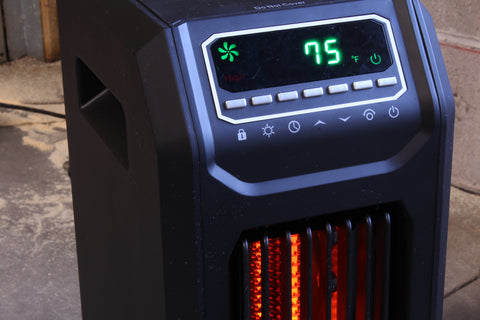 Portable Heater being powered in an emergency power outage using AC WORKS™ brand adapters.