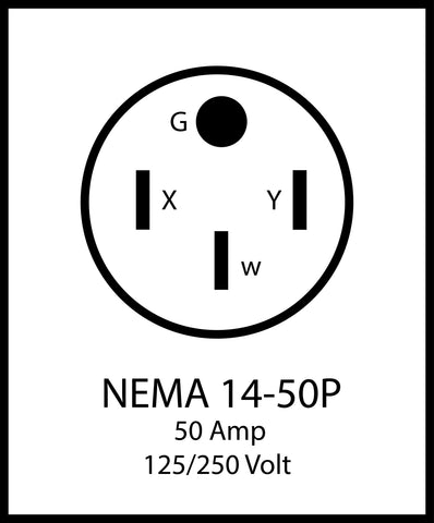NEMA 14-50P, 50 Amp RV, aC WORKS