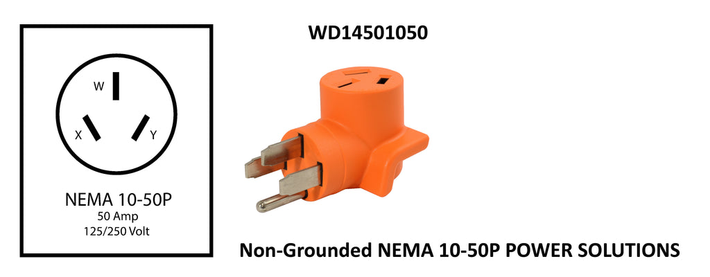 AC WORKS™ Brand non-grounded NEMA 10-50P