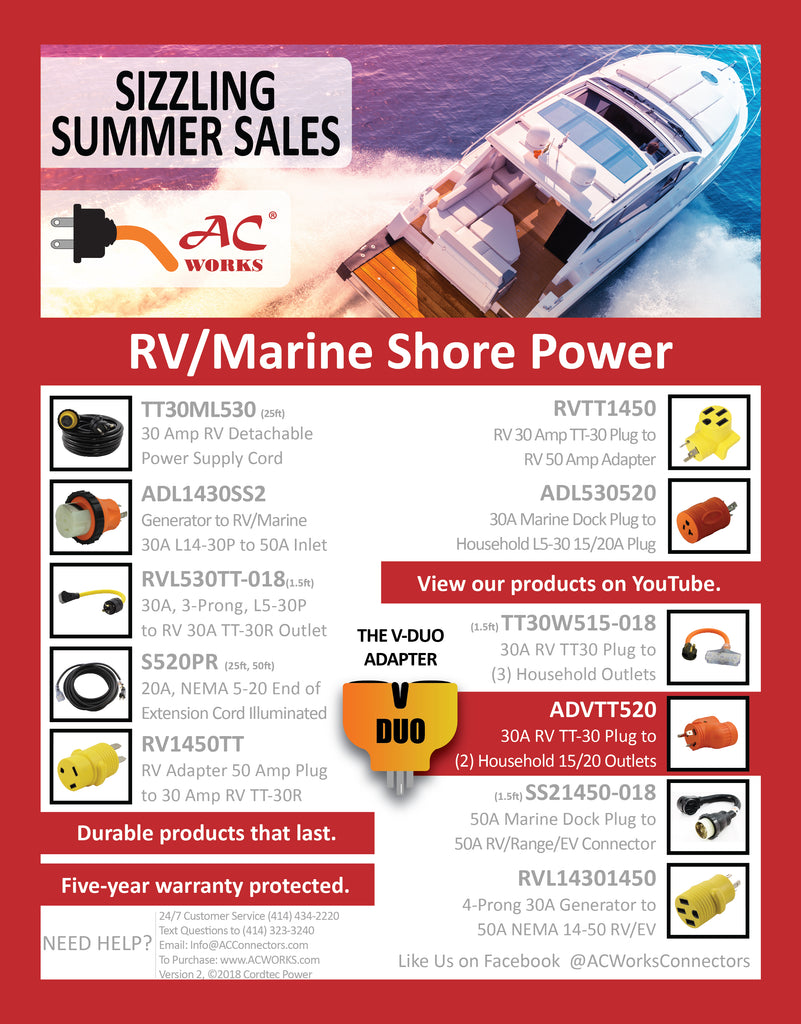 Summer Product Sell Sheet by AC WORKS® 2019
