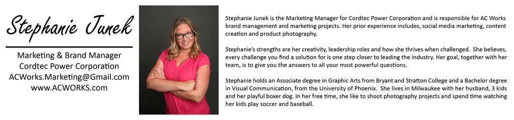 Stephanie Junek Marketing and Brand Manager for Cordtec Power Corp.