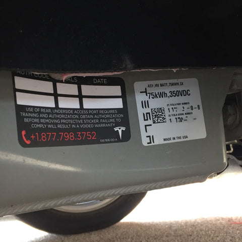 B rated battery car by Tesla
