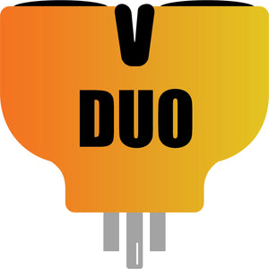 V-DUO adapter, AC WORKS brand V-DUO Adapter, orange adapter