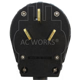 AC WORKS® [1050Y520-036] 50A 125/250V NEMA 10-50 3-Prong Old Style Range/Welder Plug to Two NEMA 5-20 Household Connections