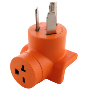 Right angle adapter, 90 degree adapter, dryer outlet adapter, orange adapter