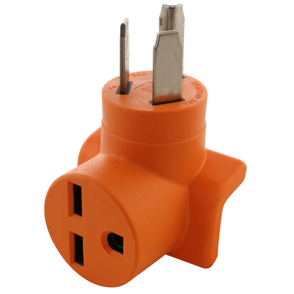 AC WORKS orange adapter, old dryer outlet to AC connector