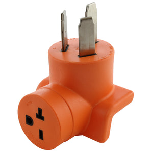 orange right angle adapter by AC WORKS, AC Connectors compact adapter