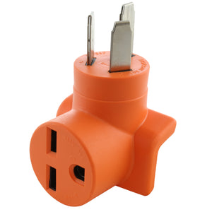 orange welder outlet adapter by AC WORKS®, AC Connectors compact right angle adapter