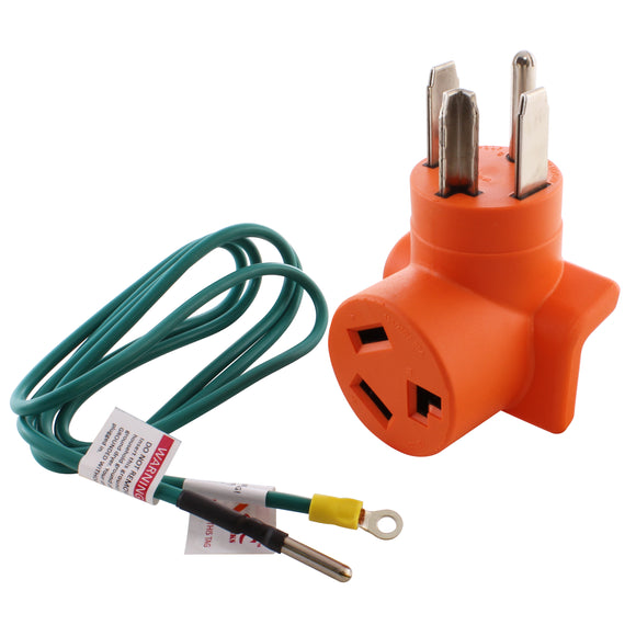 AC WORKS, AC Connectors, orange adapter, dryer adapter