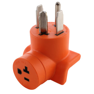 AC WORKS, AC Connectors, orange right angle adapter, 90 degree adapter