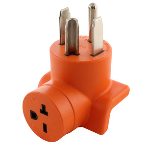AC WORKS, AC Connectors, orange adapter, dryer outlet adapter, power tool adapter