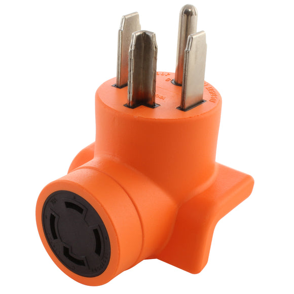 orange adapter, right angle adapter, 90 degree adapter, AC WORKS, AC Connectors