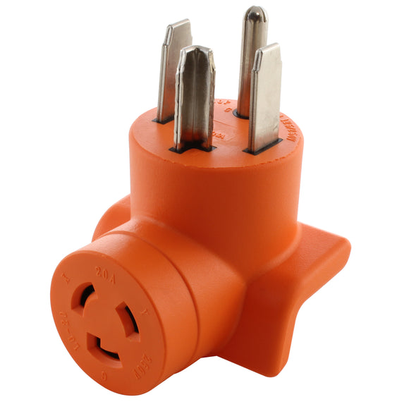 AC Works, AC Connectors, dryer outlet adapter, orange adapter