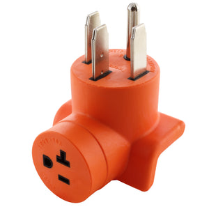 right angle adapter, 90 degree adapter, orange adapter, compact adapter, AC WORKS, AC Connectors