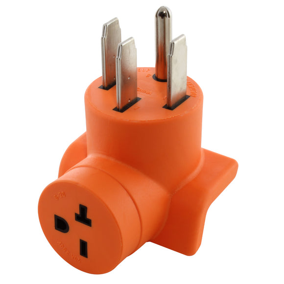 AC Works power tool adapter, AC Connectors orange adapter, compact adapter