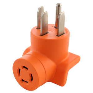 AC Works, RV outlet adapter, range outlet adapter, orange adapter