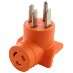 AC WORKS, AC Connectors, orange adapter, compact adapter, right angle adapter, 90 degree adapter