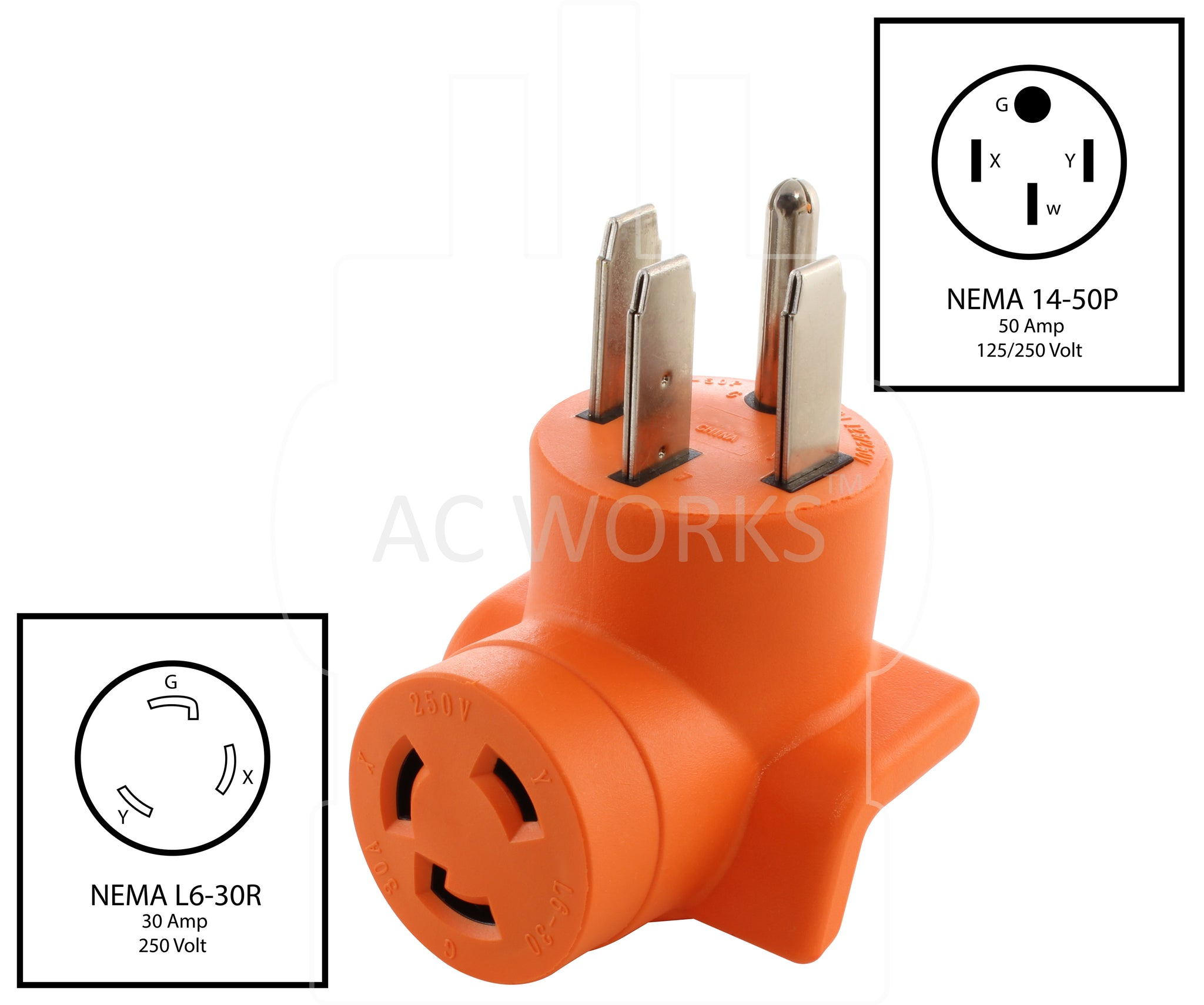 Locking Adapter Generator Rv Range 14 50p Plug To L6 30r 250volt Wiring A 50 Amp Outlet For Stove Ac Works Nema 4 Prong