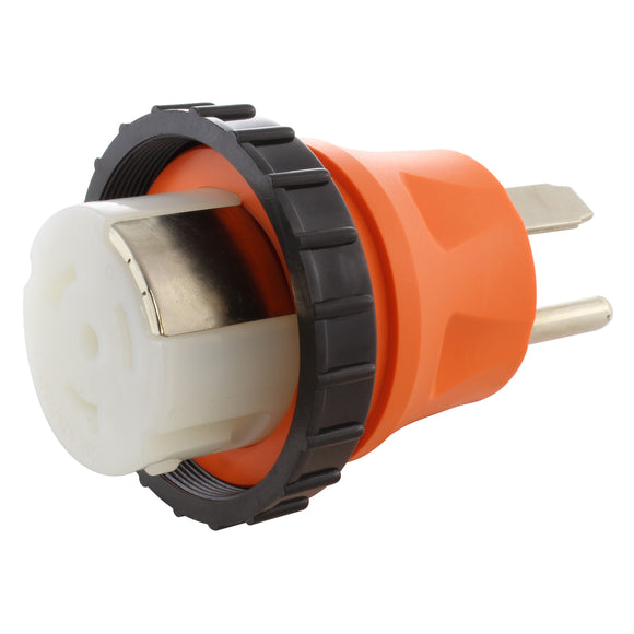 orange adapter, AC WORKS, AC Connectors, locking adapter