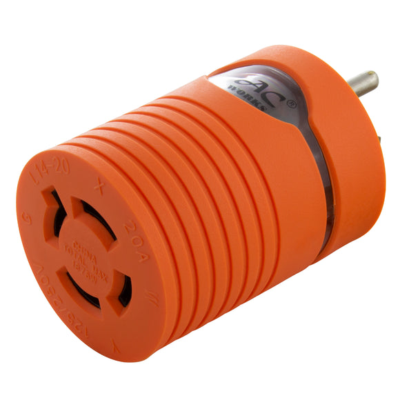 adapter with power indicator light for inlet box