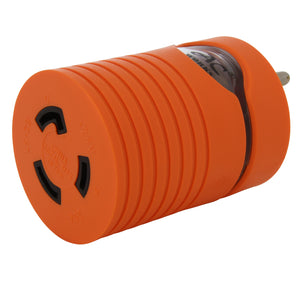 AC Works, household adapter, power tool adapter, orange adapter