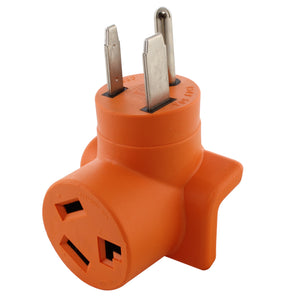 AC WORKS brand welder to dryer adapter, EV adapter, compact orange adapter