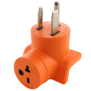 right angle adapter, 90 degree adapter, orange adapter, AC Connectors, AC WORKS