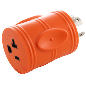 Compact barrel adapter, orange adapter, AC WORKS, AC Connectors