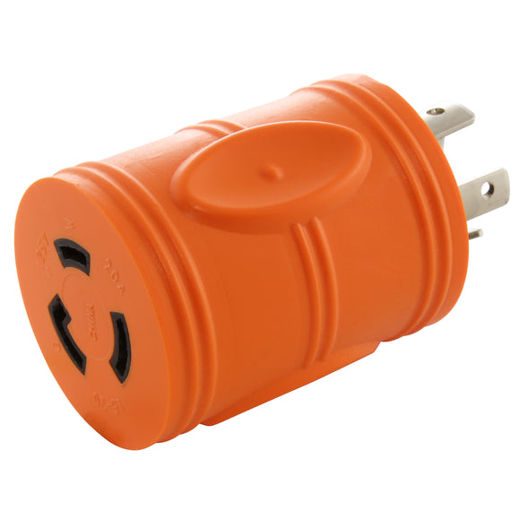 barrel adapter, compact adapter, orange adapter, AC WORKS, AC Connectors