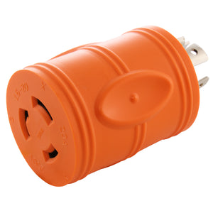 AC WORKS, AC Connectors, barrel adapter, orange adapter, compact adapter, locking adapter