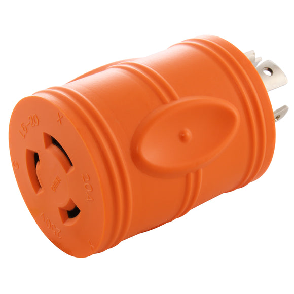 AC Connectors, AC Works, Orange Adapter, ADL1420L620, Twist Lock Adapter, 20 Amp Adapter