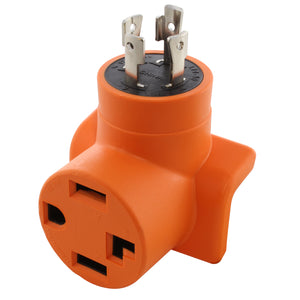compact orange adapter, locking adapter, AC WORKS, AC Connectors