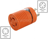 NEMA L14-30P to NEMA L14-20R, L1430 plug to L1420 connector.