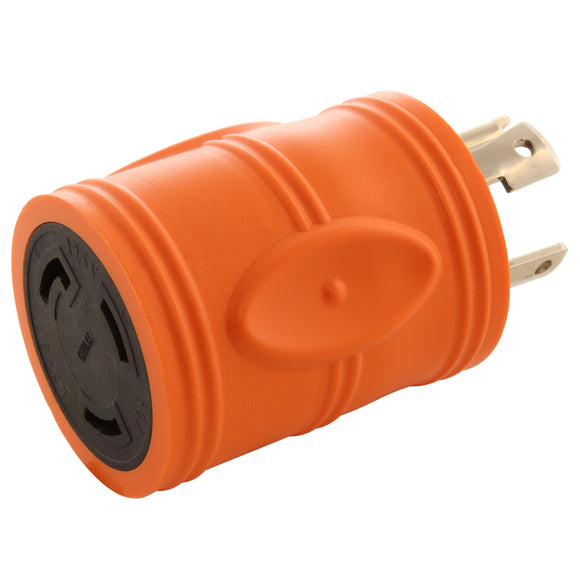 AC Connectors, AC WORKS, orange adapter, locking adapter, barrel adapter, compact adapter