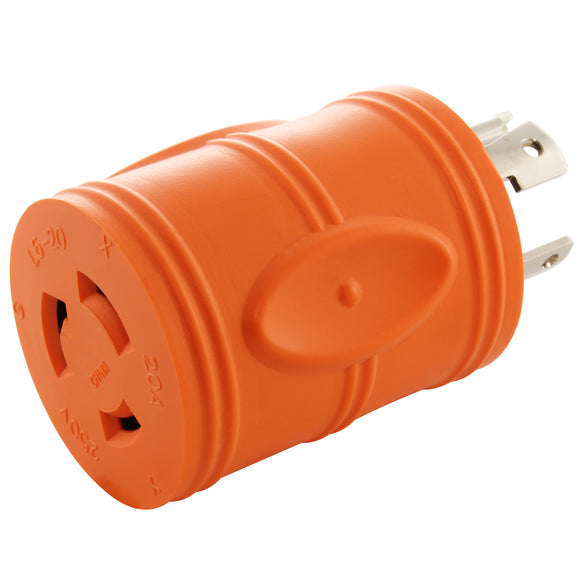 locking adapter, orange adapter, compact adapter, barrel adapter, AC WORKS, AC Connectors