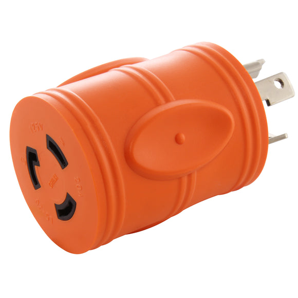 orange adapter, barrel adapter, compact adapter, locking adapter, AC WORKS, AC Connectors