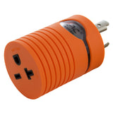 AC WORKS® [ADL620620] Adapter L6-20P 20A 250V Plug to NEMA 6-15/20R 15/20A 250V Connector