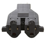 NEMA 5-15R, 515 female connector, household outlets