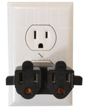 one household outlet to two, multi-outlet adapter for home