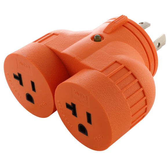 AC WORKS V-DUO adapter, generator to household adapter